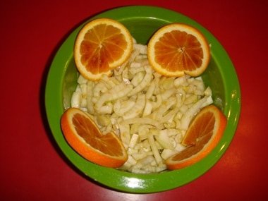 finocchi e arance
