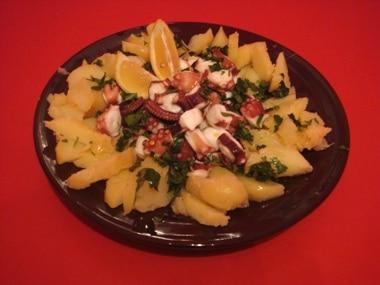 ricetta polipo con patate