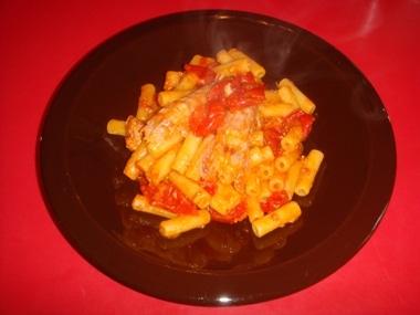 ricetta pasta con canocchie