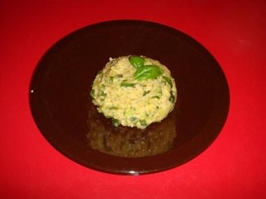 risotto integrale con zucchine
