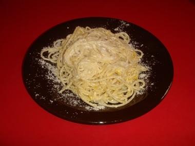 spaghetti con scorza di limone