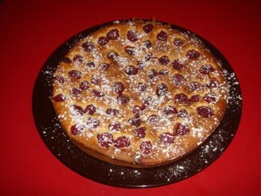 torta con lamponi