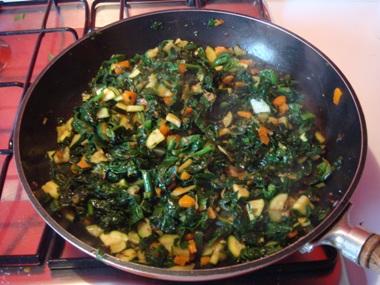 zucchine carote e spinaci