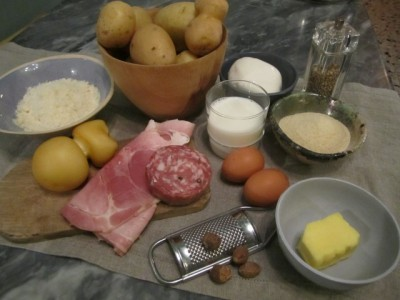 Ingredienti gattò di patate