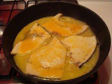 pesce spada con arance
