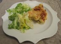 Gateau di patate nel piatto