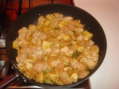 pollo con curry
