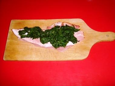 tacchino e spinaci